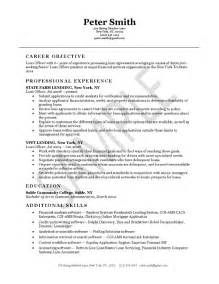 mortgage originator resume templates loan officer resume exle