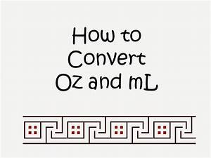 Cc To Ounces Conversion Chart Student Survive 2 Thrive How To Convert Oz To Ml Quick