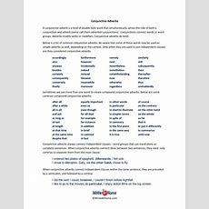 Conjunctive Adverbs Printable Lesson  Writing Better  Pinterest  More Conjunctive Adverb And