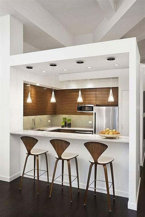 bar cuisine bois idée aménagement cuisine 50 intérieurs modernes