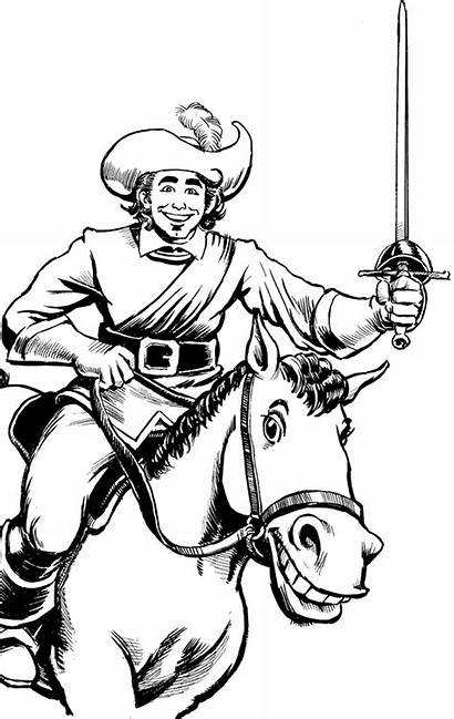 Musketeers Three Drawing Porthos Aramis Athos Clip