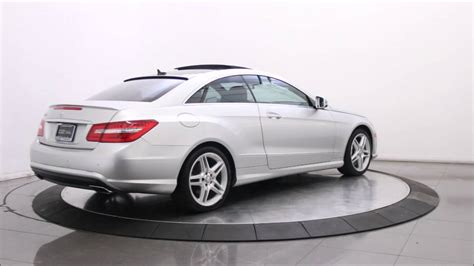 This video is the result. 2013 MERCEDES BENZ E550 AMG SPORT COUPE - YouTube