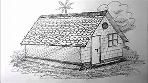 How To Draw A House For Kids Pencil Drawing
