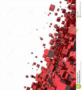 Abstract 3d Red Cubes Stock Image