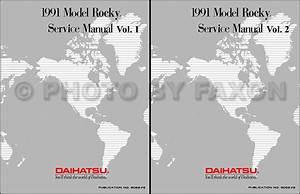 1991 Daihatsu Rocky Repair Shop Manual Reprint