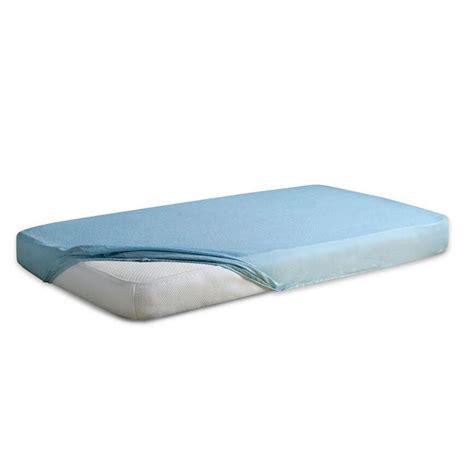 Frotte ūdens necaurlaidīgs palags ar gumiju BABY (zils)