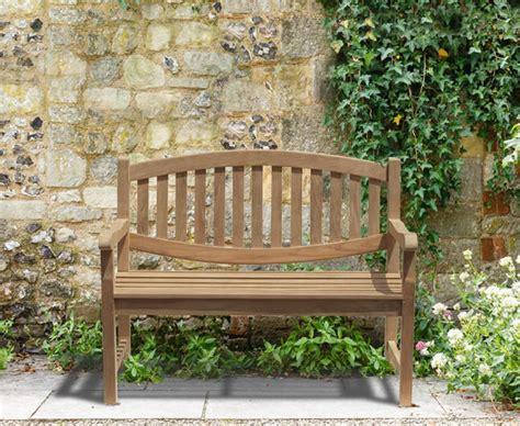small outdoor bench ascot teak 2 seater garden bench small garden seat