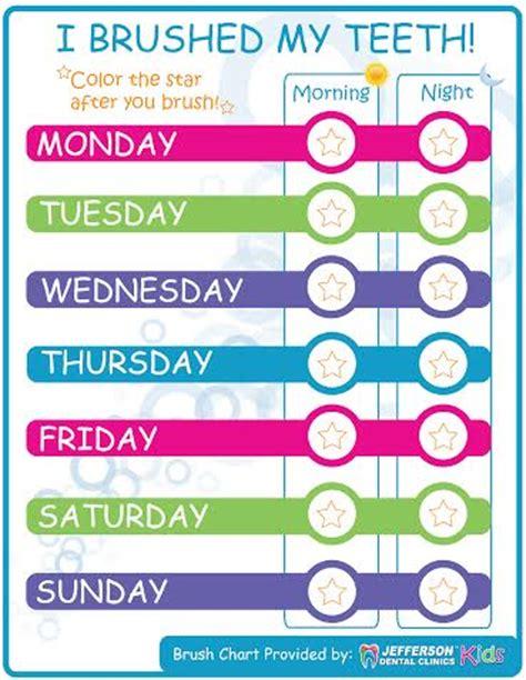 national childrens dental health month  printable brush chart growingsmiles  crazy