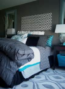 Yellow And Blue Bedroom Decorating Ideas by Gray And Turquoise Bedroom Contemporary Bedroom