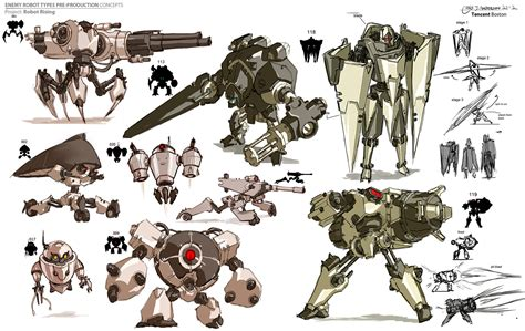 Enemy Robot Types Pre-production, Chris Anderson