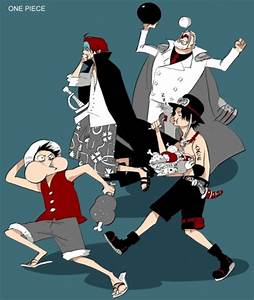 Garb, Shanks, Ace and Luffy one piece | One Piece | Pinterest