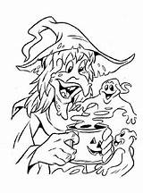 Coloring Witches sketch template