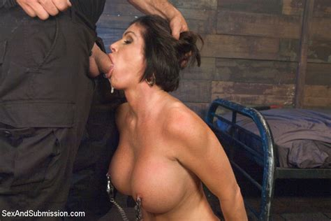 Shay Fox Naked And Pushed Down While Getting Her Tanned Body Submitted To Rough Bondage And Sex