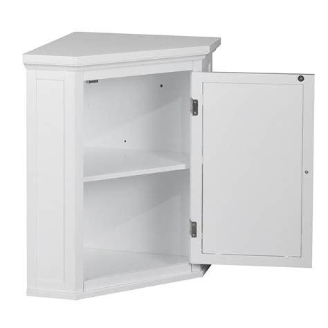 1door Corner Wall Cabinet In White Elg587
