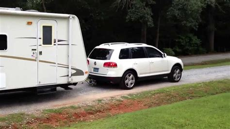 2007 touareg v8 towing 28 travel trailer youtube