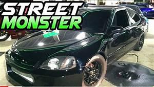 Nasty K20 Turbo Civic Battles The Streets