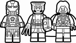 Lego Iron Man And Lego Wolverine  U0026 Lego Thor Coloring Book
