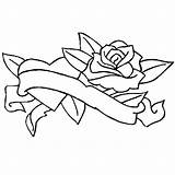 Coloring Ribbon Rose Winding Pages Cancer Getdrawings Sky sketch template