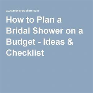 how to plan a bridal shower on a budget ideas With planning a wedding shower on a budget