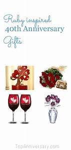 40th wedding anniversary gift ideas from topanniversarycom for Gift for 40th wedding anniversary
