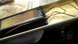 Testing And Ballast Replacement In An Antique Fluorescent