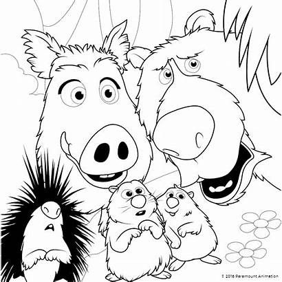 Coloring Wonder Park Pages Character Animals