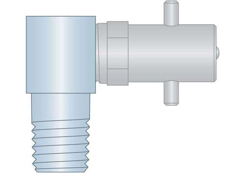 Pin Fitting 1/4-18nptf 90d Cs/zc Br/ni