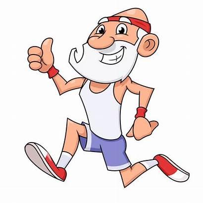 Jogging Runner Marathon Illustration Mature Vector Running
