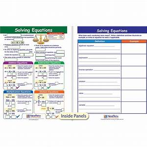 Solving Equations Visual Learning Guide Math Gr 6-9