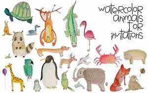 The Sweeter Side of Mommyhood » Watercolor Animal Invitations
