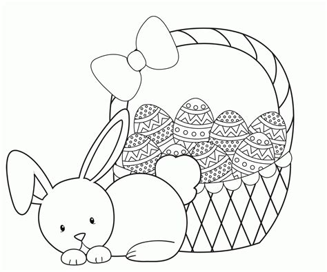 easter bunny coloring pages easter basket coloring pages best coloring pages for