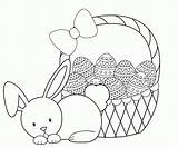 Easter Coloring Pages Basket Printable sketch template