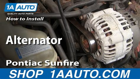 98 Cavalier Fuel Filter Removal by How To Replace Alternator 96 98 Pontiac Sunfire