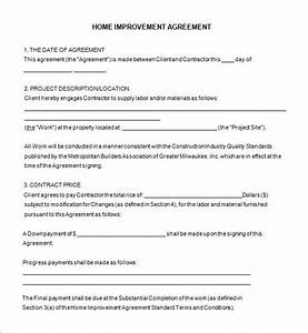 work from home agreement template emsecinfo With simple remodeling contract