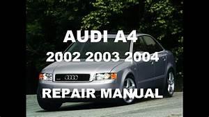 Audi A4 2002 2003 2004 Repair Manual