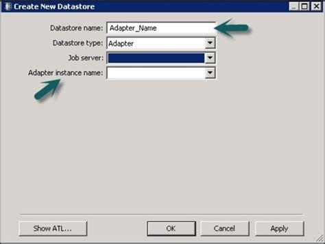 sap bods adapter datastore