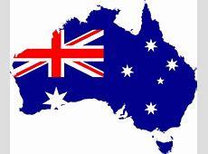 Clipart Australia Flag Map