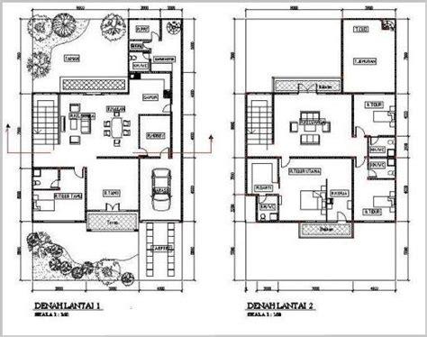 gambar denah rumah minimalis  lantai modern  home