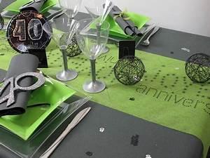 Deco Table Anniversaire Femme : deco de table anniversaire 40 ans table de lit ~ Melissatoandfro.com Idées de Décoration