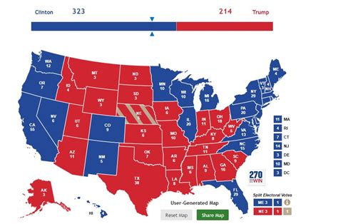 map most november likely projection presidential clinton electoral college trump outcome politicus