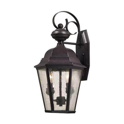 rubbed bronze outdoor light fixtures cotswold 2 light rubbed bronze outdoor wall l tn