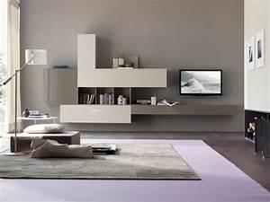 salon moderne gris harmonie esthetique With tapis de yoga avec canapé télé