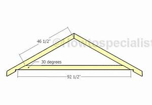 8x16 gable shed roof plans howtospecialist how to With 16 ft trusses