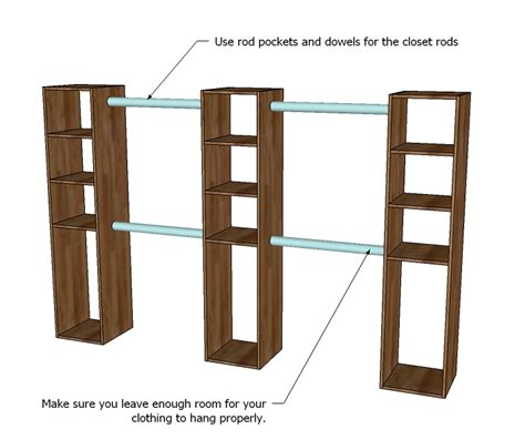 closet storage organizer woodworking plans woodshop plans