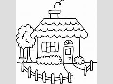 Black And White Drawing Simple House ClipArt Best