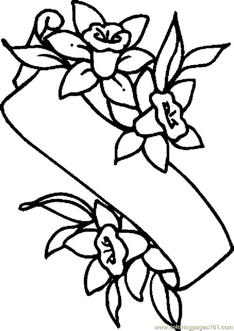 easter lily banner coloring page  holidays coloring pages coloringpagescom