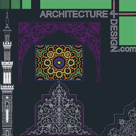 autocad collection  islamic decoration pieces aslamy