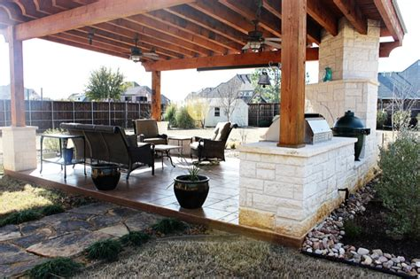 covered outdoor grill area covered outdoor living area denton texas