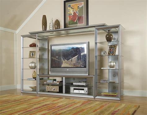 contemporary big screen wall unit wglass storage shelves
