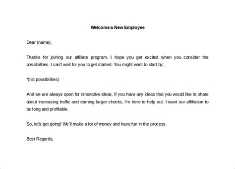 21+ Hr Welcome Letter Templates
